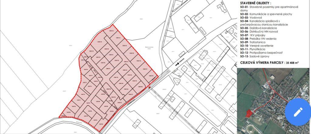 Moderny Samorin pre vsetkych apartmanove domy Caprio Rybarska ulica plan vystavby komunita