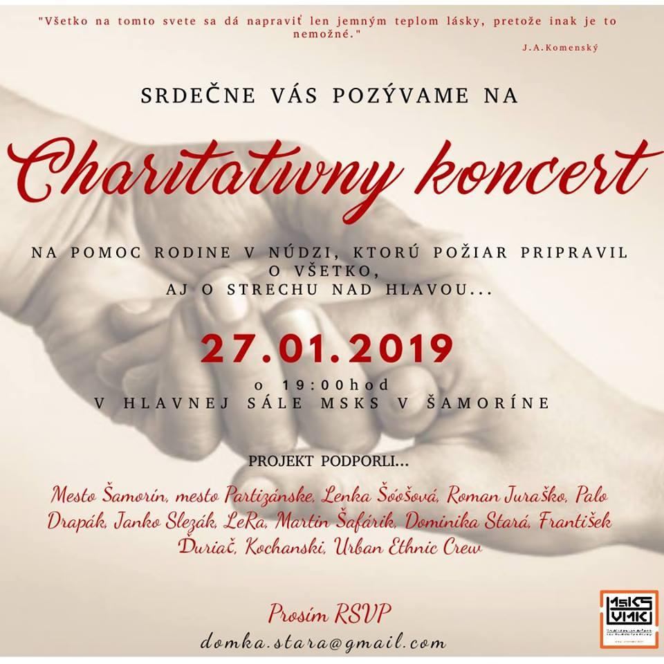 Moderny Samorin pre vsetkych mestske kulturne stredisko charitativny koncert komunita