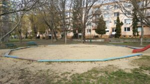 Moderny Samorin pre vsetkych detske ihrisko pieskovisko Mestsky majer