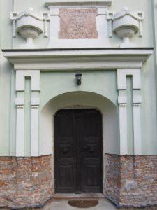 Moderny Samorin pre vsetkych evanjelicky a.v. kostol vchod