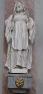 Moderny Samorin pre vsetkych rimsko-katolicky kostol Nanebovzatia Panny Marie sv. Frantisek z Paoly socha