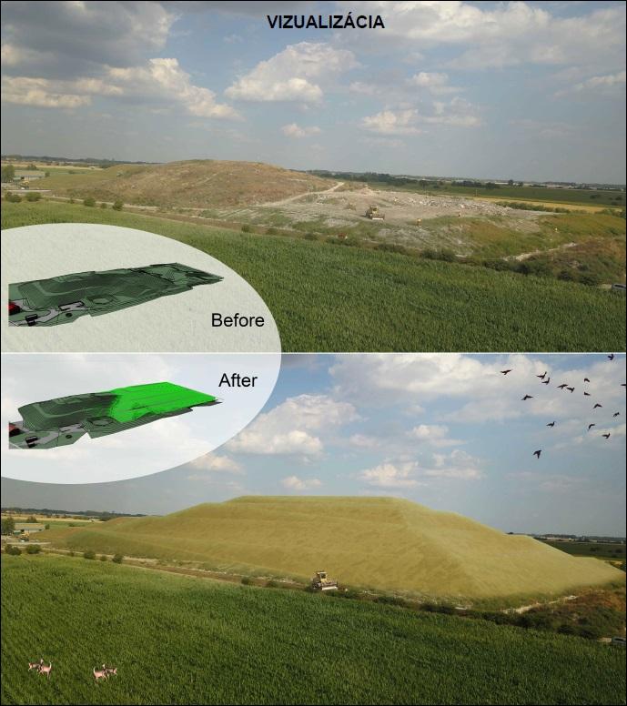 Moderny Samorin pre vsetkych skladka odpadov Cukarska Paka smetisko vizualizacia navrh navysenie